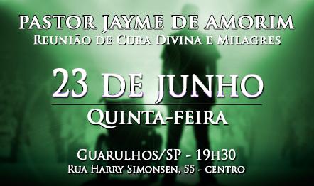 Reunião de Cura Divina e Milagres - Guarulhos, SP