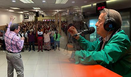 Missionário R. R. Soares (foto) em missão evangelística na África do Sul.