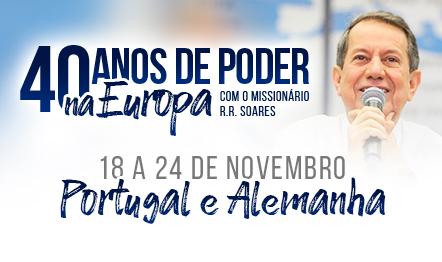 A missão evangelística começa nesta segunda-feira (18), no Cacém, Portugal.