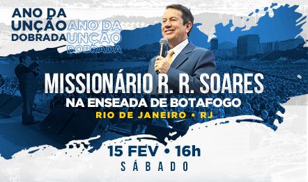 R. R. Soares vai orar com milhares de pessoas na Enseada de Botafogo a partir das 16h.